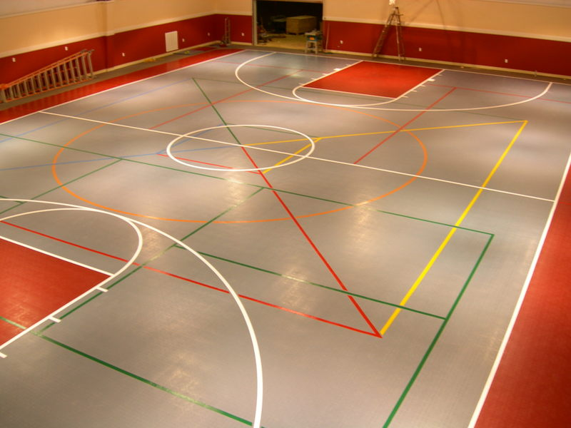 Design your own multi sports basketball or tennis court for How much does a basketball floor cost