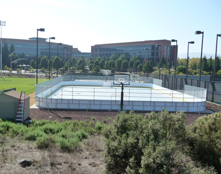 IceCourt Installed A Unique Campus Amenity For Google Staff   An Outdoor Inline  Rink Where Employees Can Play Hockey On Their Lunch Break.